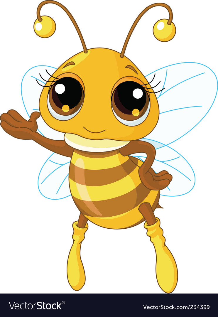 Cute bee  vector