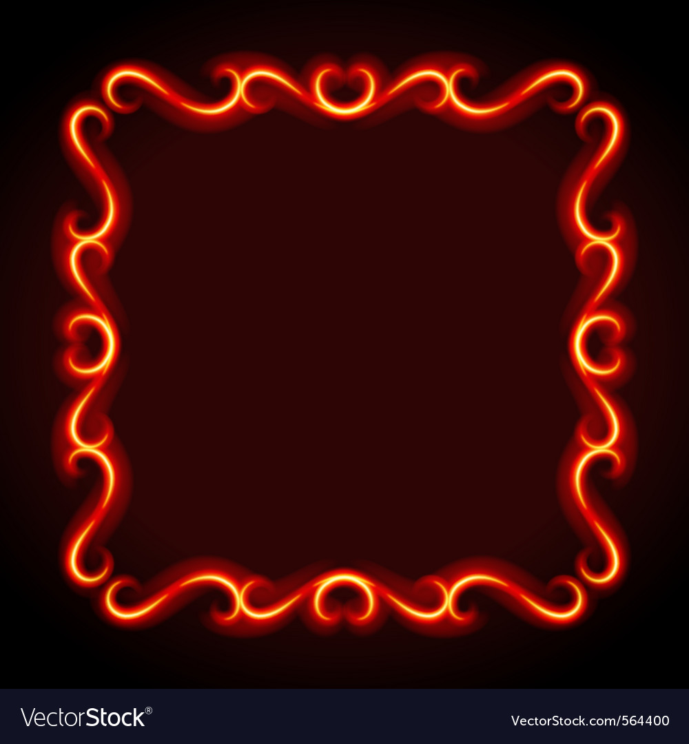 Vintage frame from flame vector