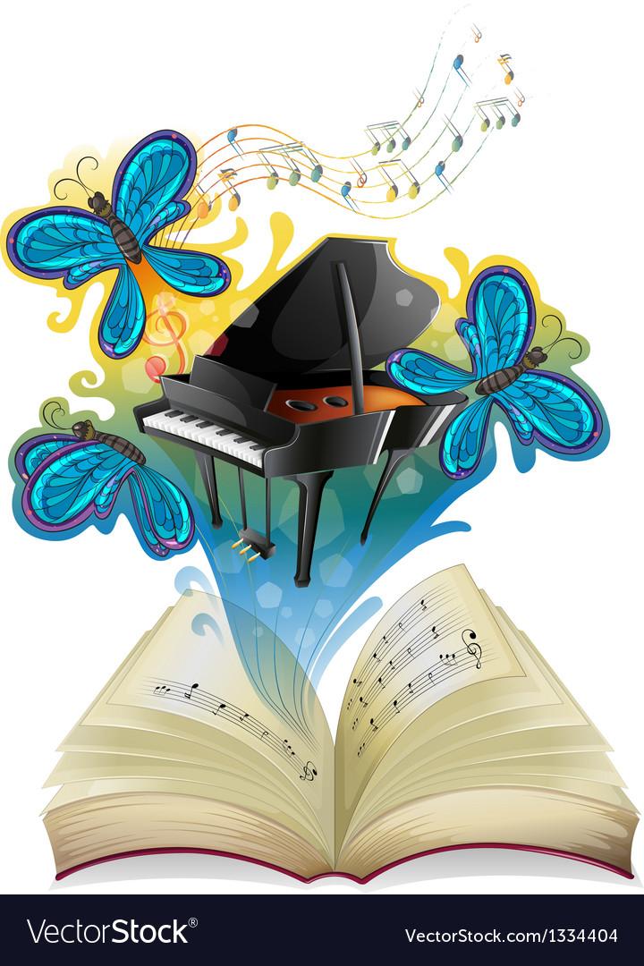 A musical book vector