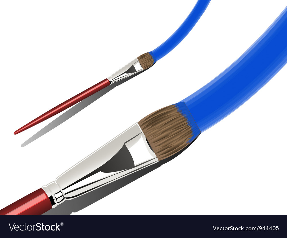 Artist paint brush vector