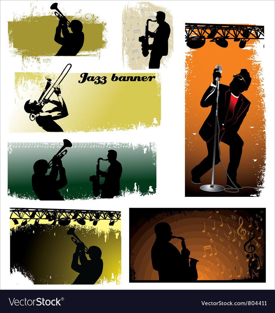 Jazz banners vector