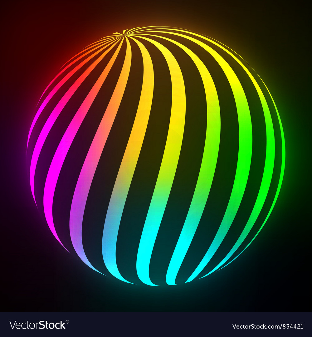 Bright light ball vector