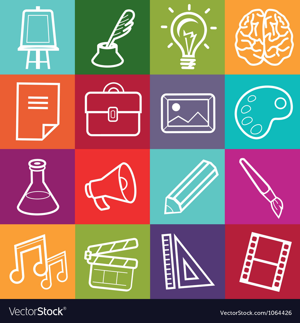 Set of creative icons vector
