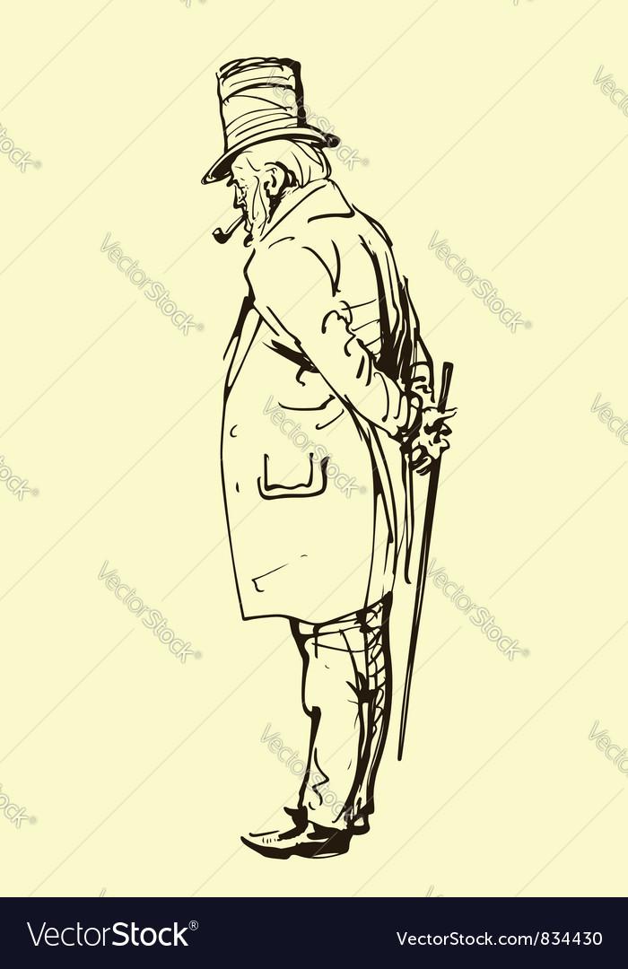Old gentleman vector