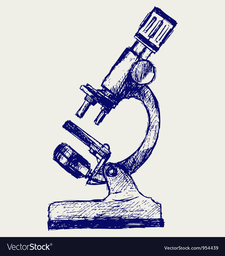Microscope sketch vector