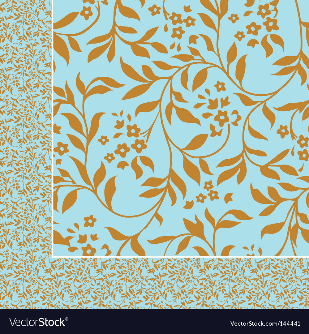 Ivy pattern vector