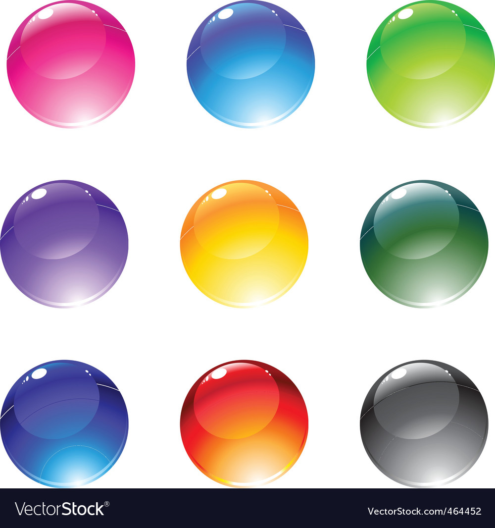 Decoration balls vector