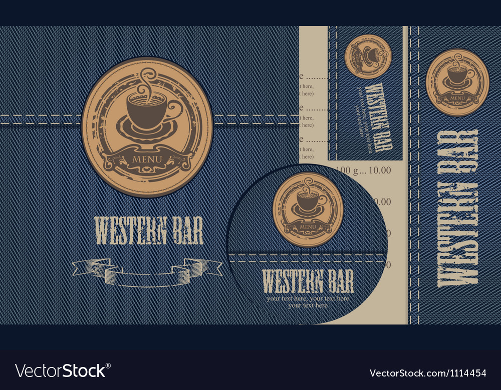 Western bar vector