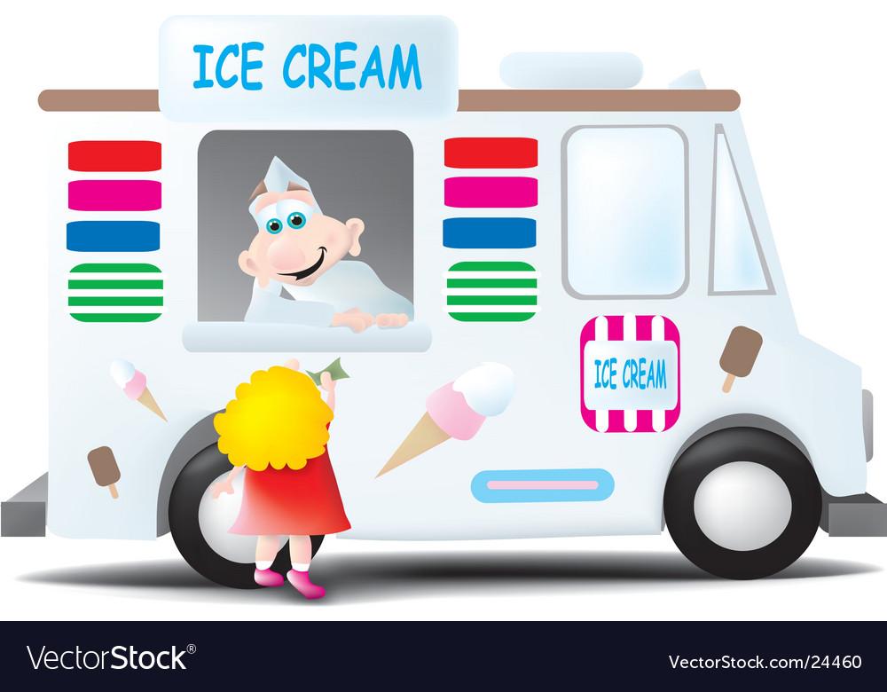 Ice cream man vector