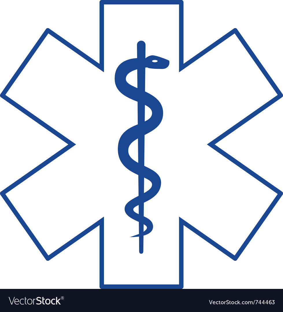 Medical symbol asclepius vector
