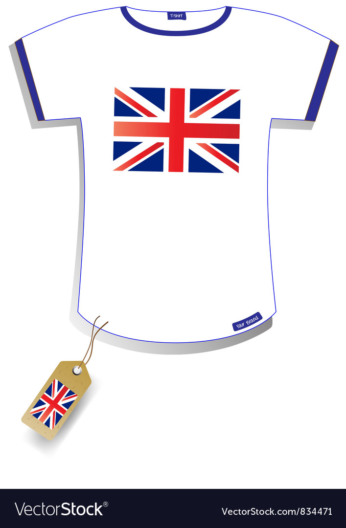 England t-shirt vector