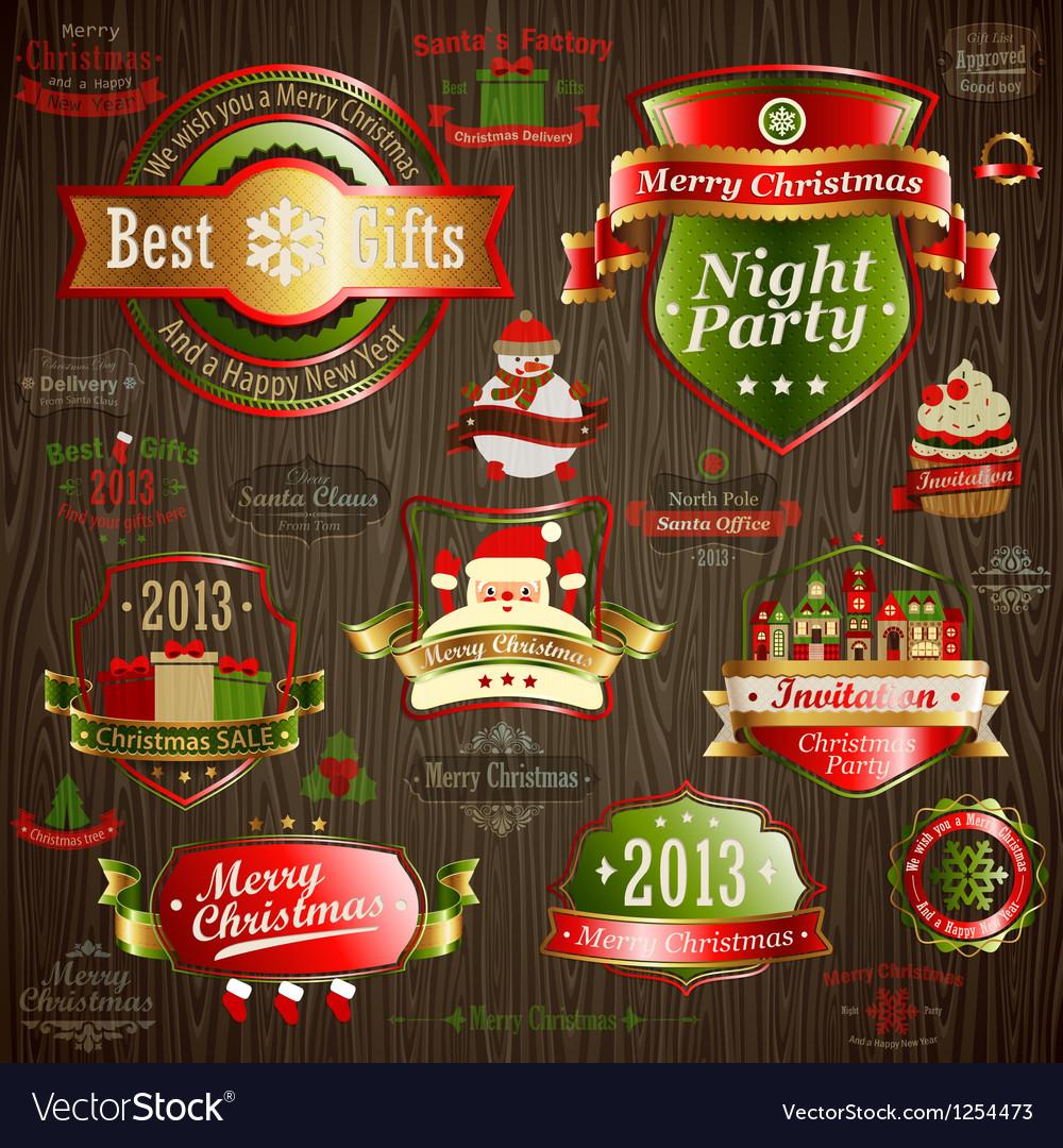Christmas vintage vector