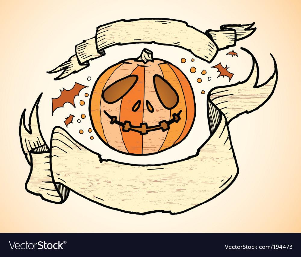 Pumpkin banners vector