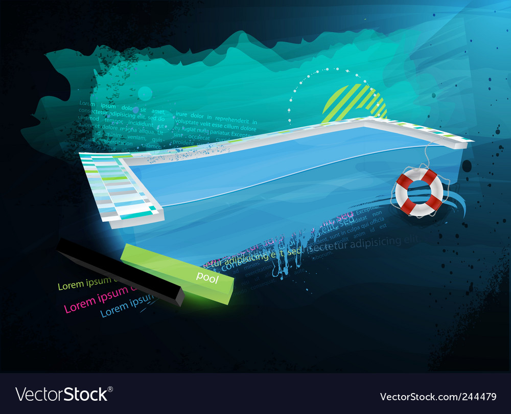 Grunge swimpool design vector