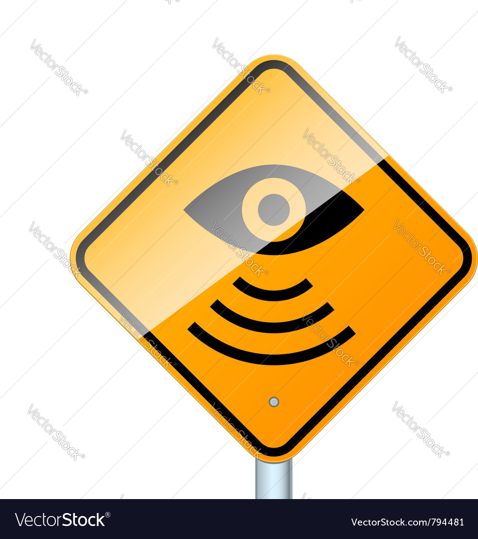 Radar road sign vector
