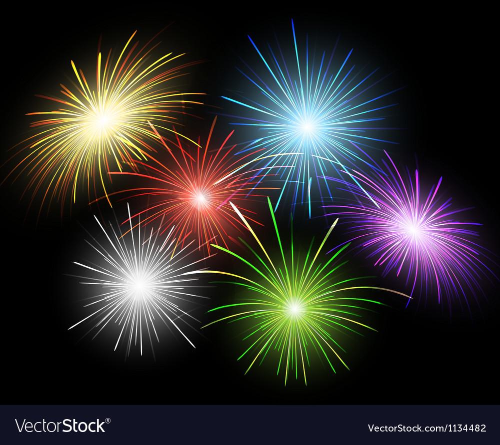 Firework set vector