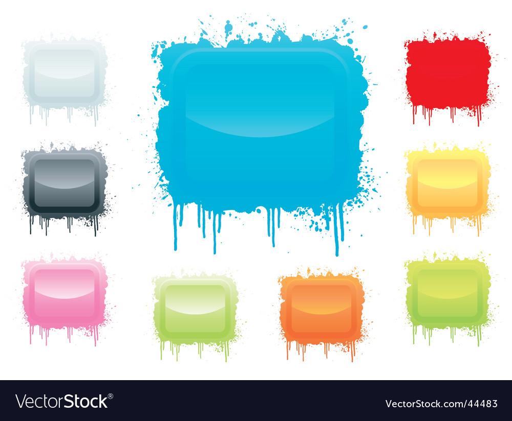 Ink splatter board vector