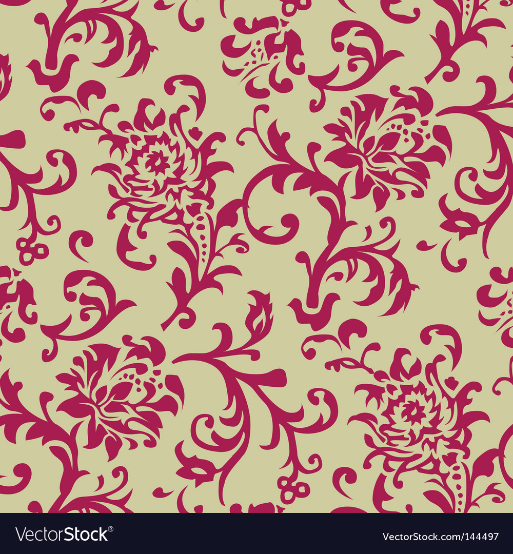 Rose pattern vector