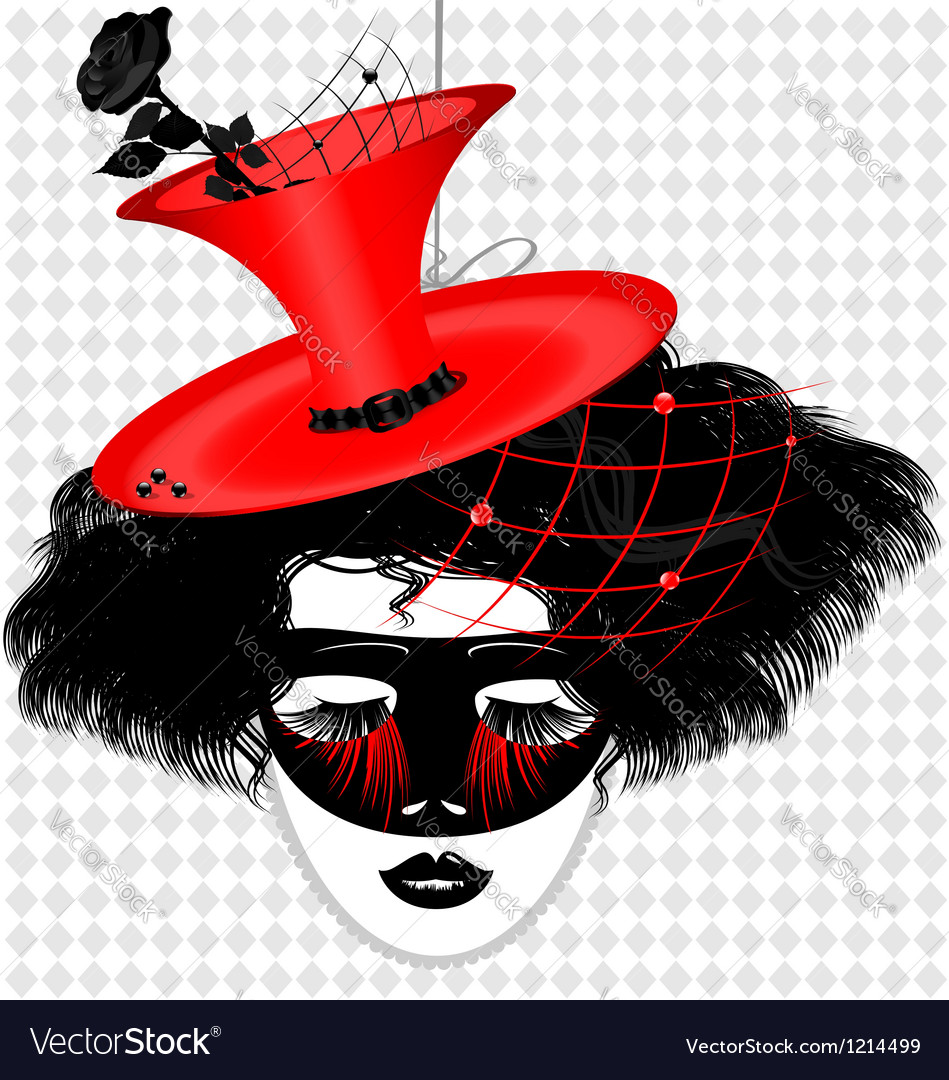 Image of an dame in carnival mask vector