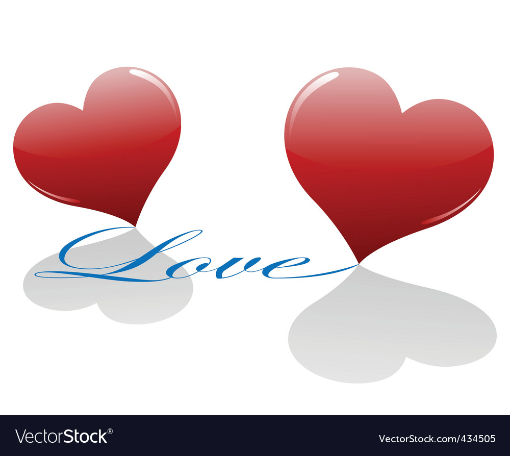 Free two loving hearts vector