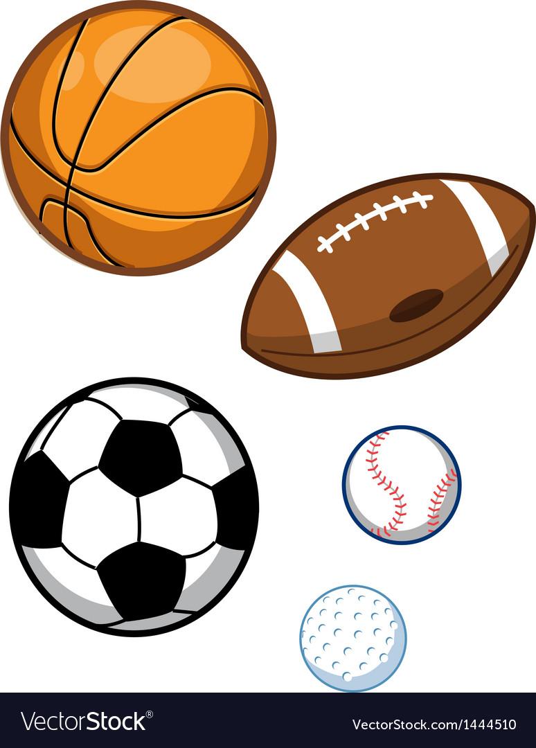 Assorted sports balls vector
