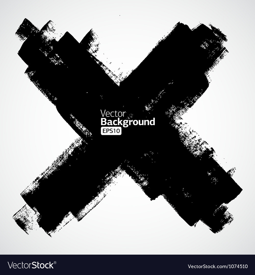 Grunge cross on the white background vector