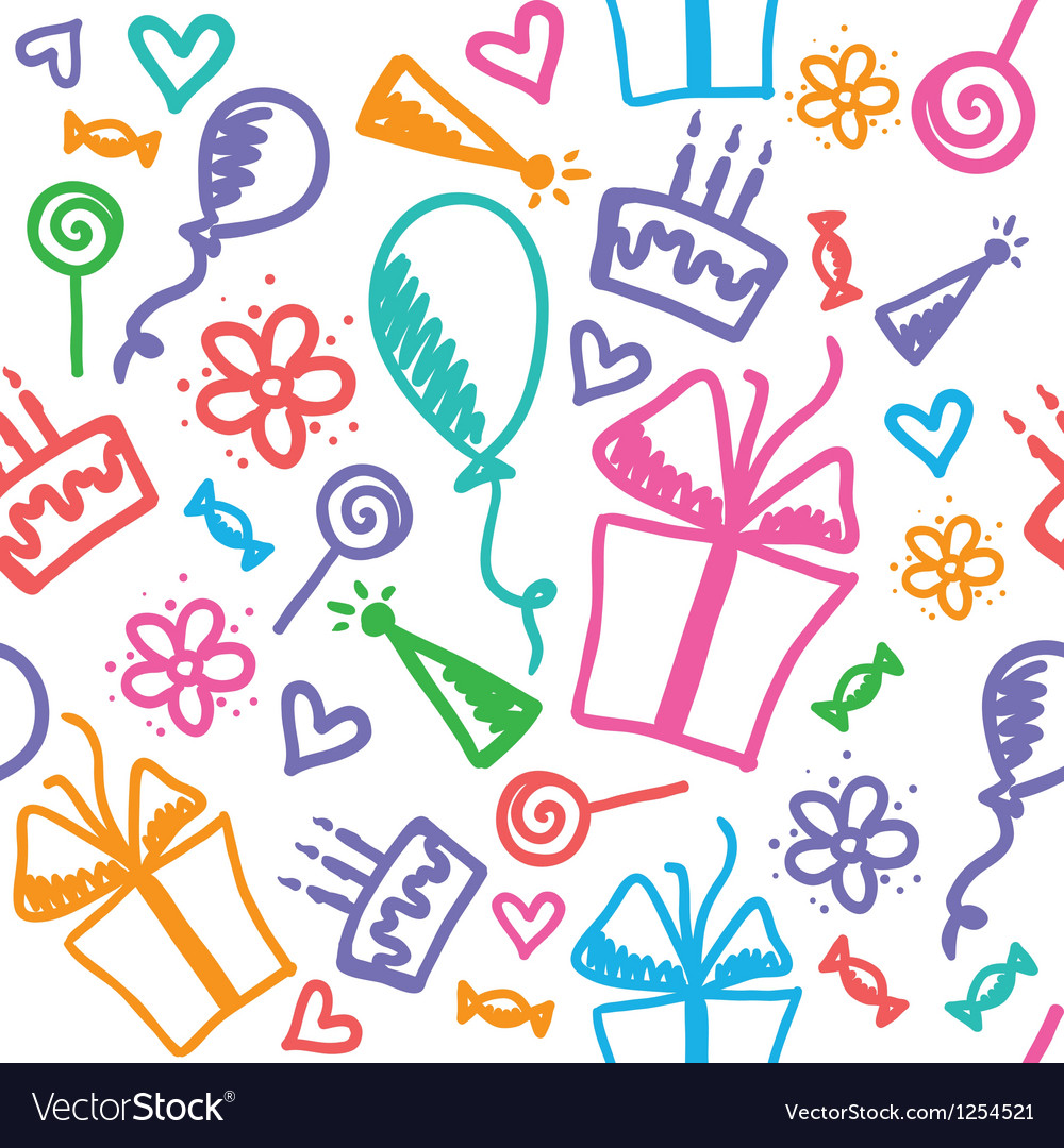 Birthday pattern vector