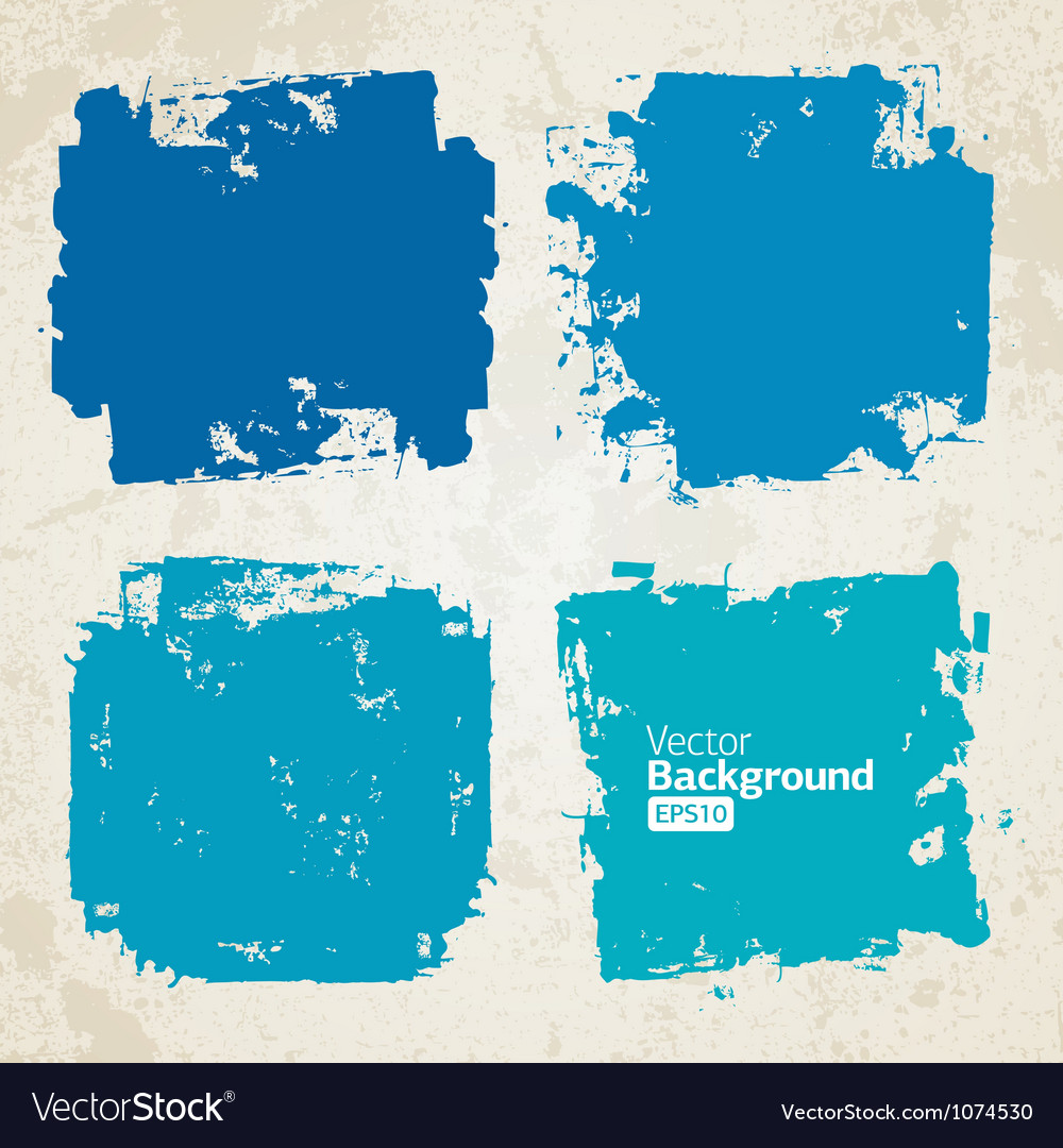 Set of grunge colorful brush backgrounds vector