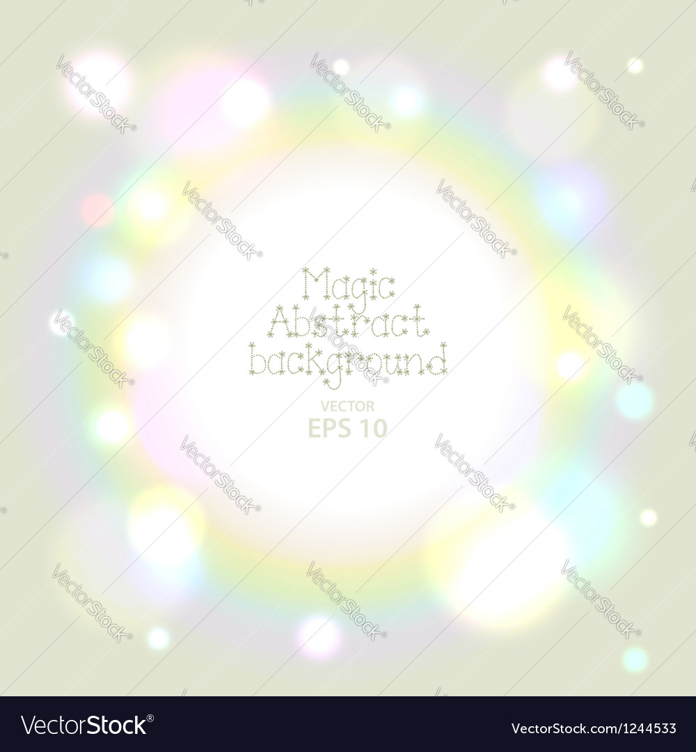Warm bokeh abstract background vector
