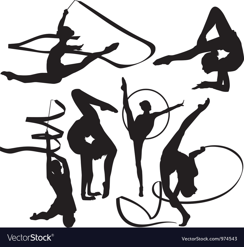 Gymnasts vector