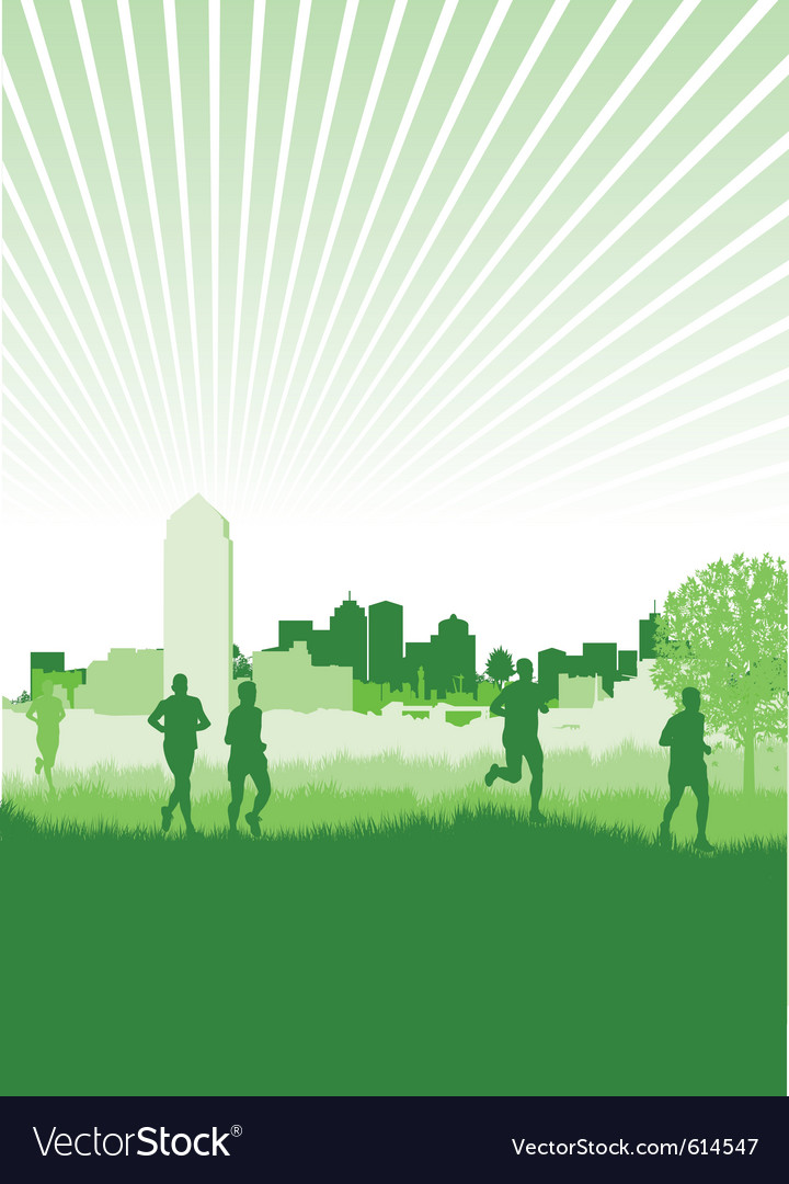 Nature runners vector