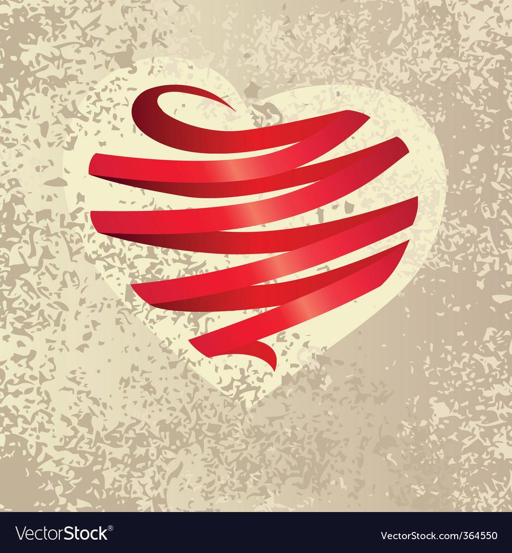 Ribbon heart vector art - Download Heart vectors