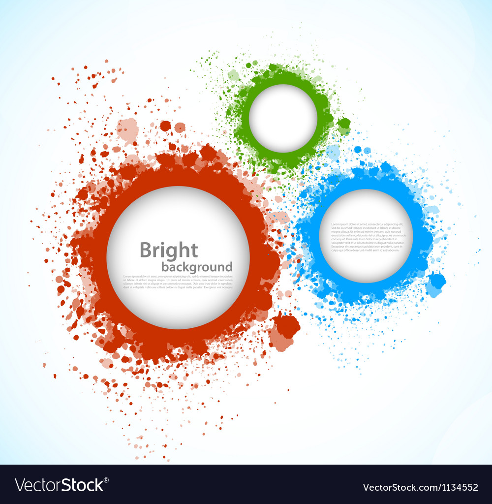 Background with grunge circles vector