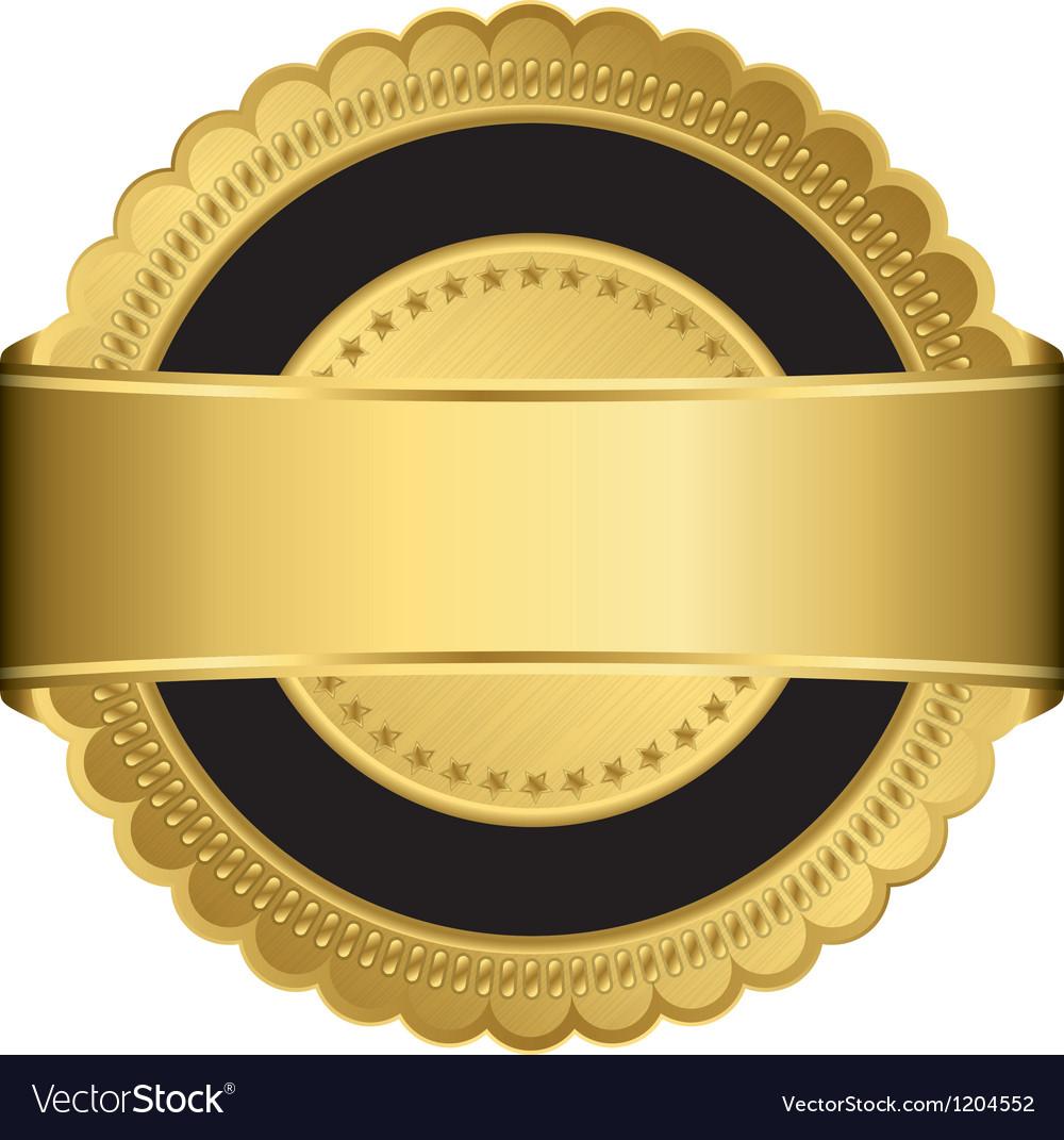Gold medal frame vector