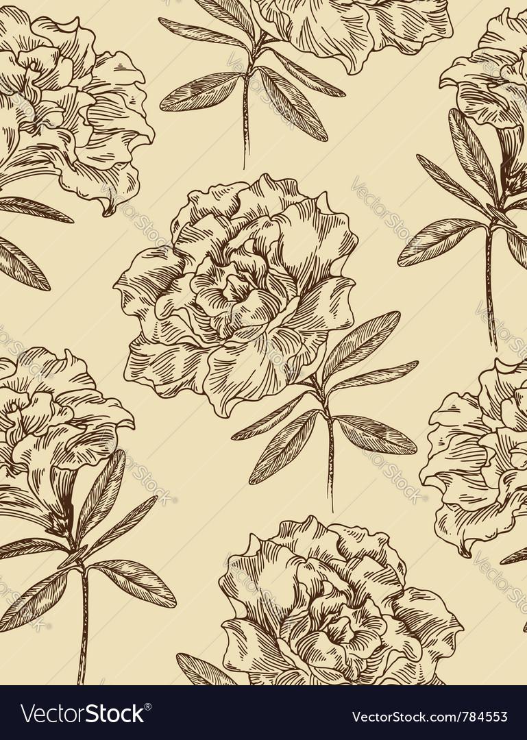 Azaleas seamless floral pattern vector