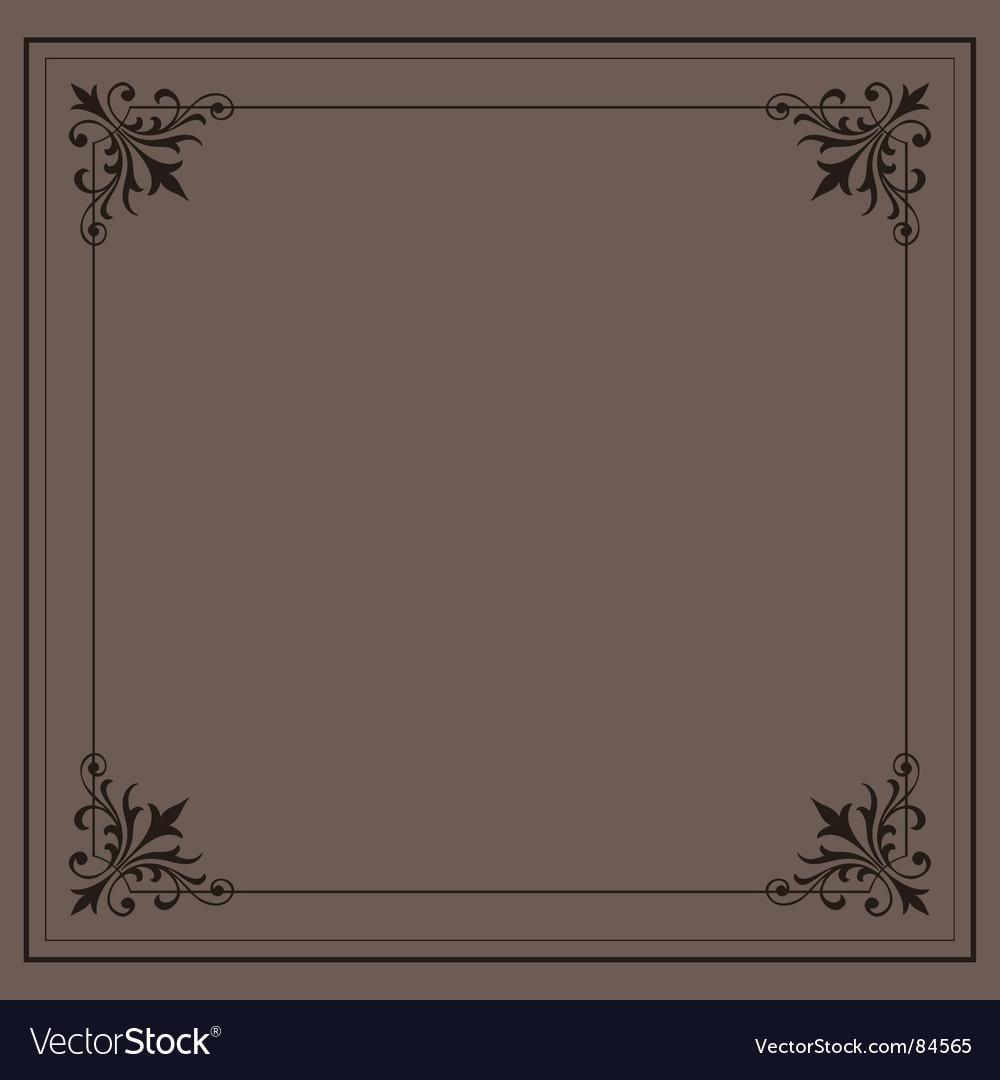 Vintage ornamental frame series vector