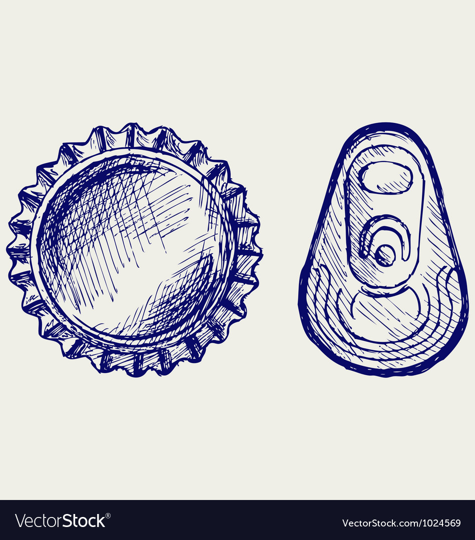 Bottle cap vector