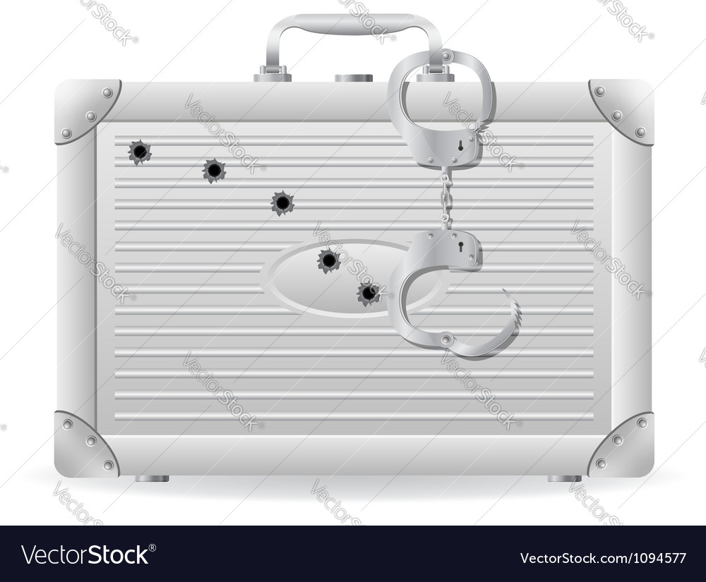 Metallic briefcase 03 vector