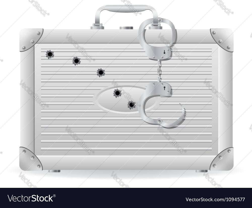 Metallic briefcase 03 vector