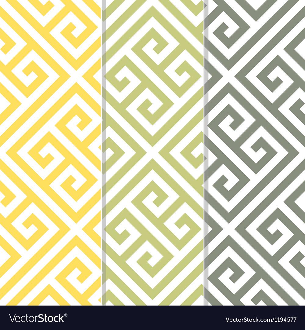 Seamless greek key background pattern vector