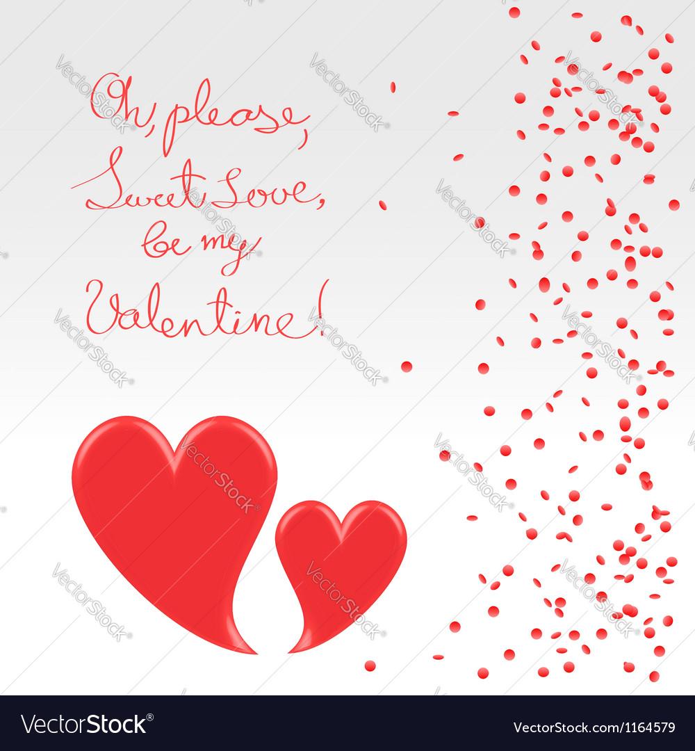 Sweet plea of valentine vector