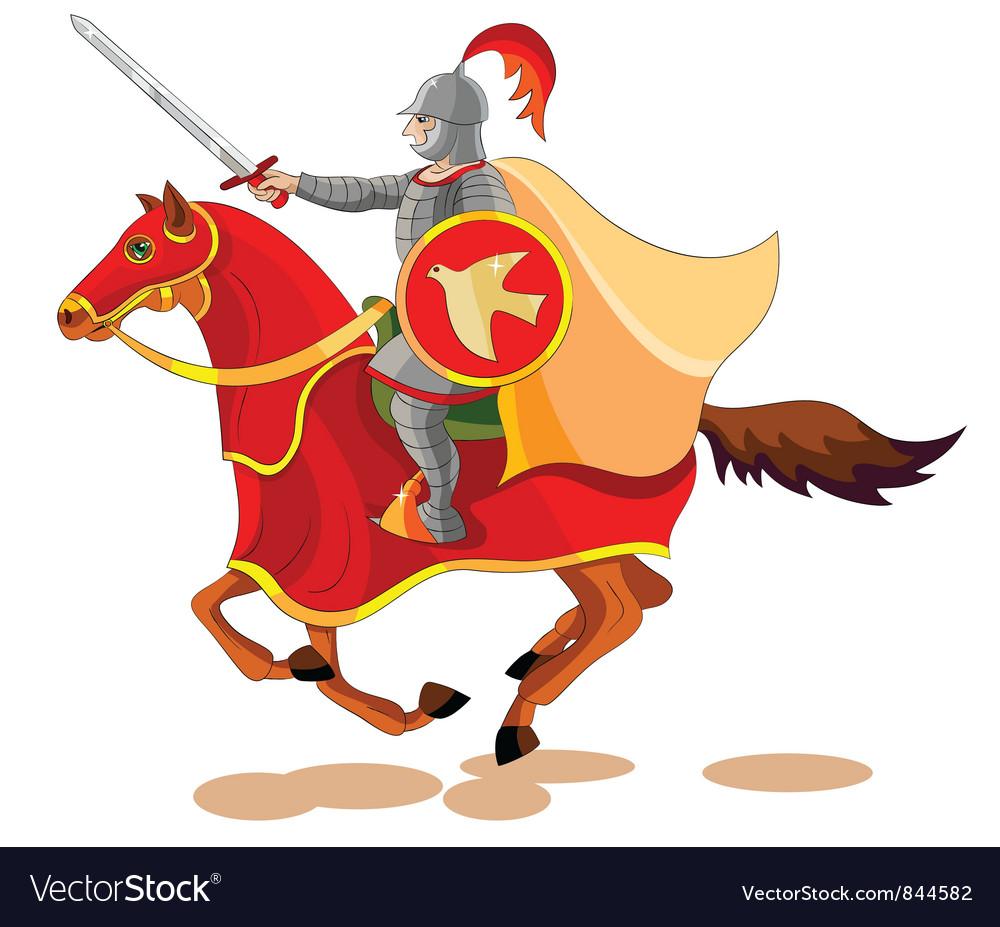 Equestrian apocalypse war vector