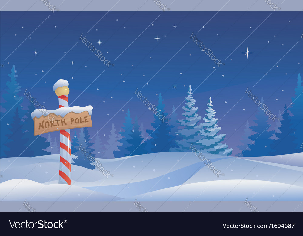 North pole vector