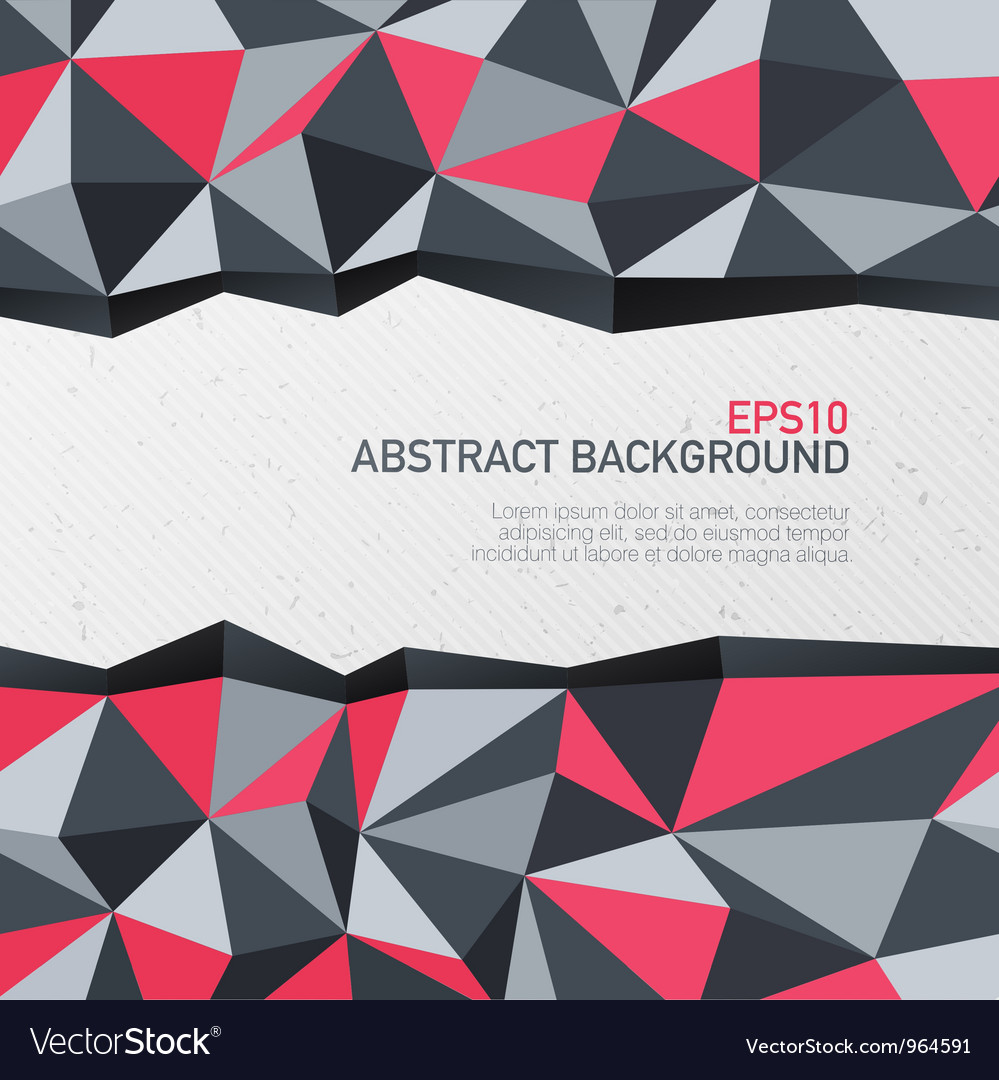 Abstract triangle background with space for text vector