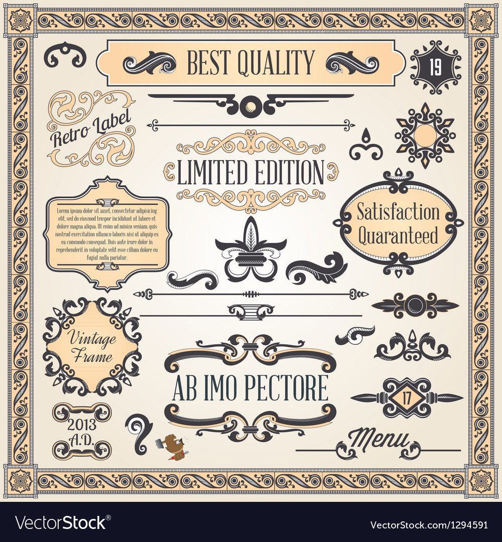 Calligraphic designcs8 vector