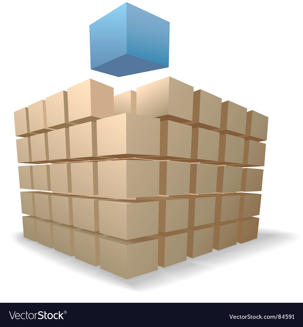Shipping boxes puzzle vector