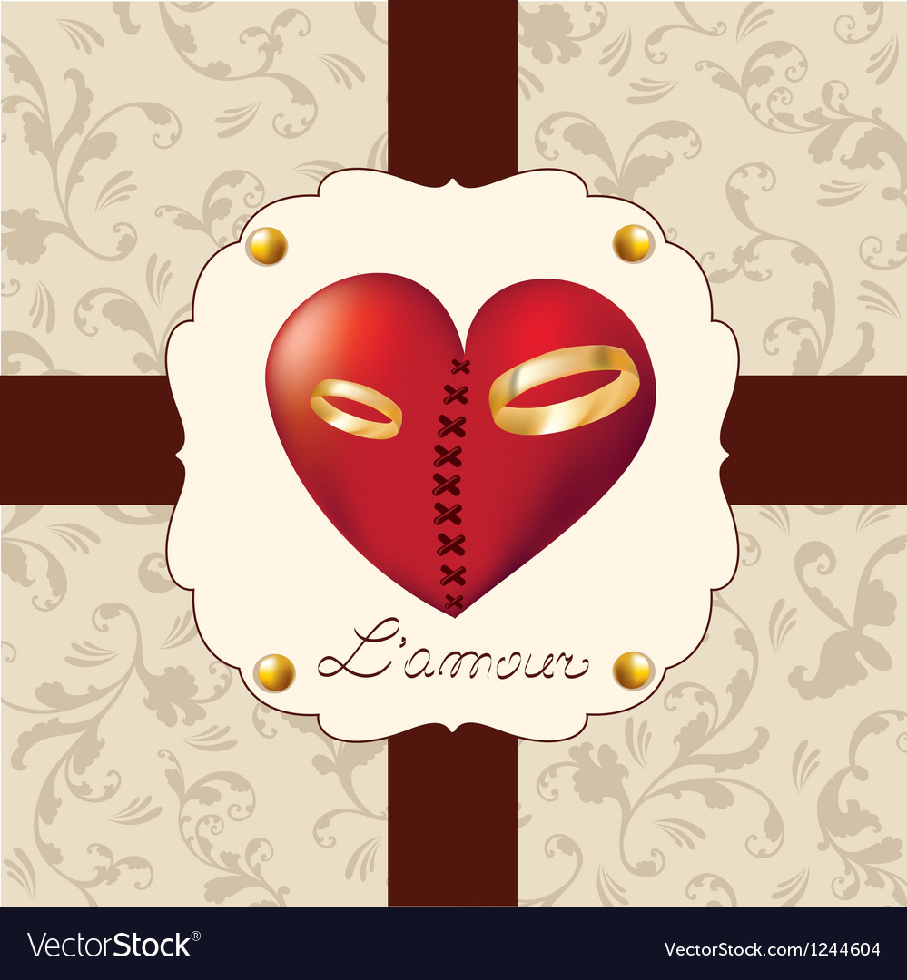 Valentines day sweet heart vector