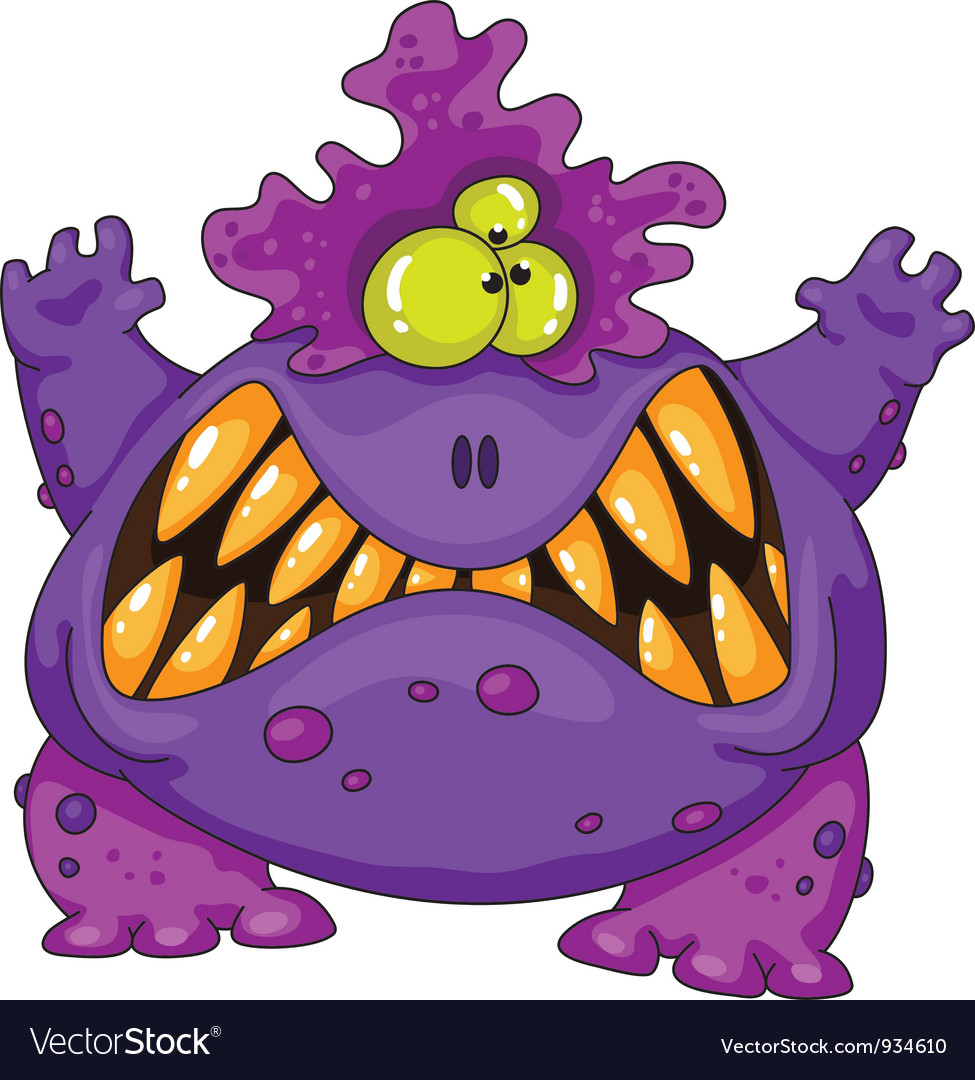 Terrible monster vector