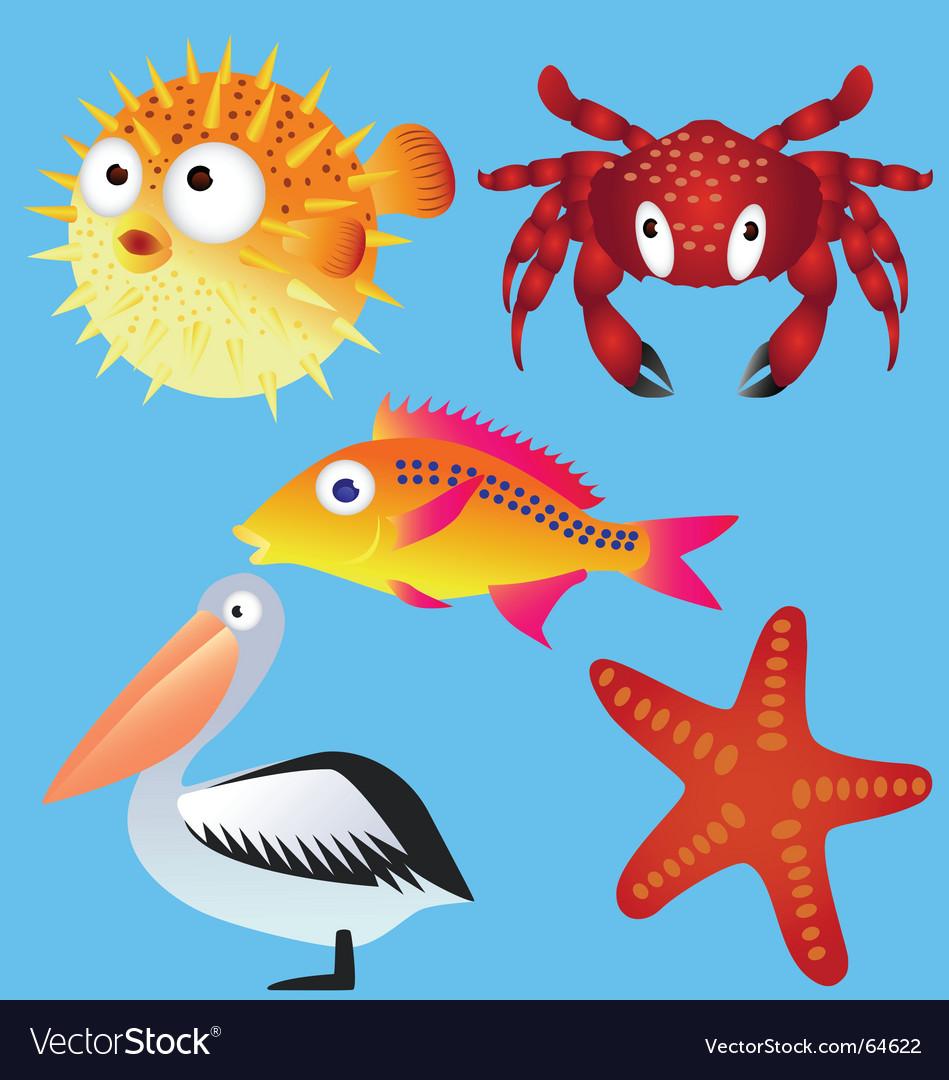 Sea life vector