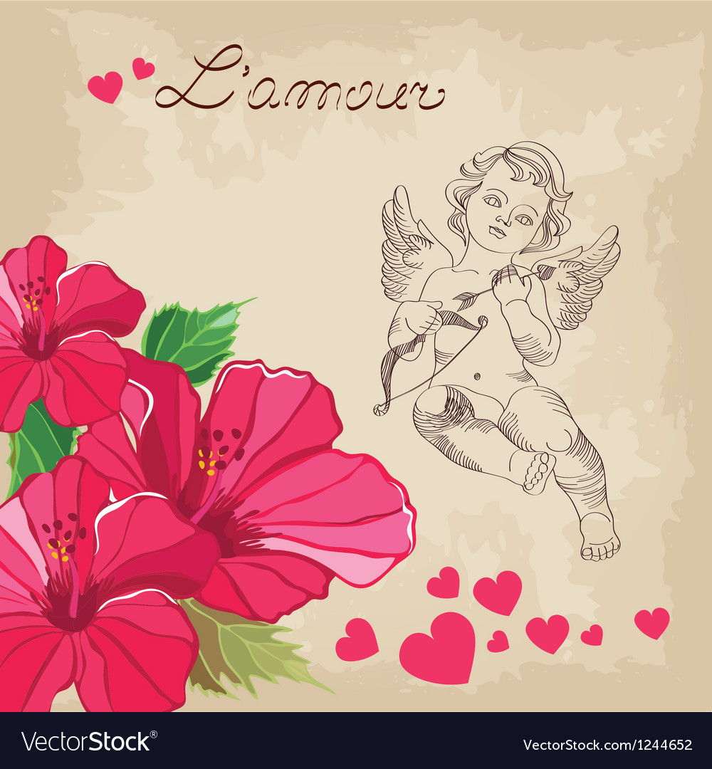 Valentines day love background vector